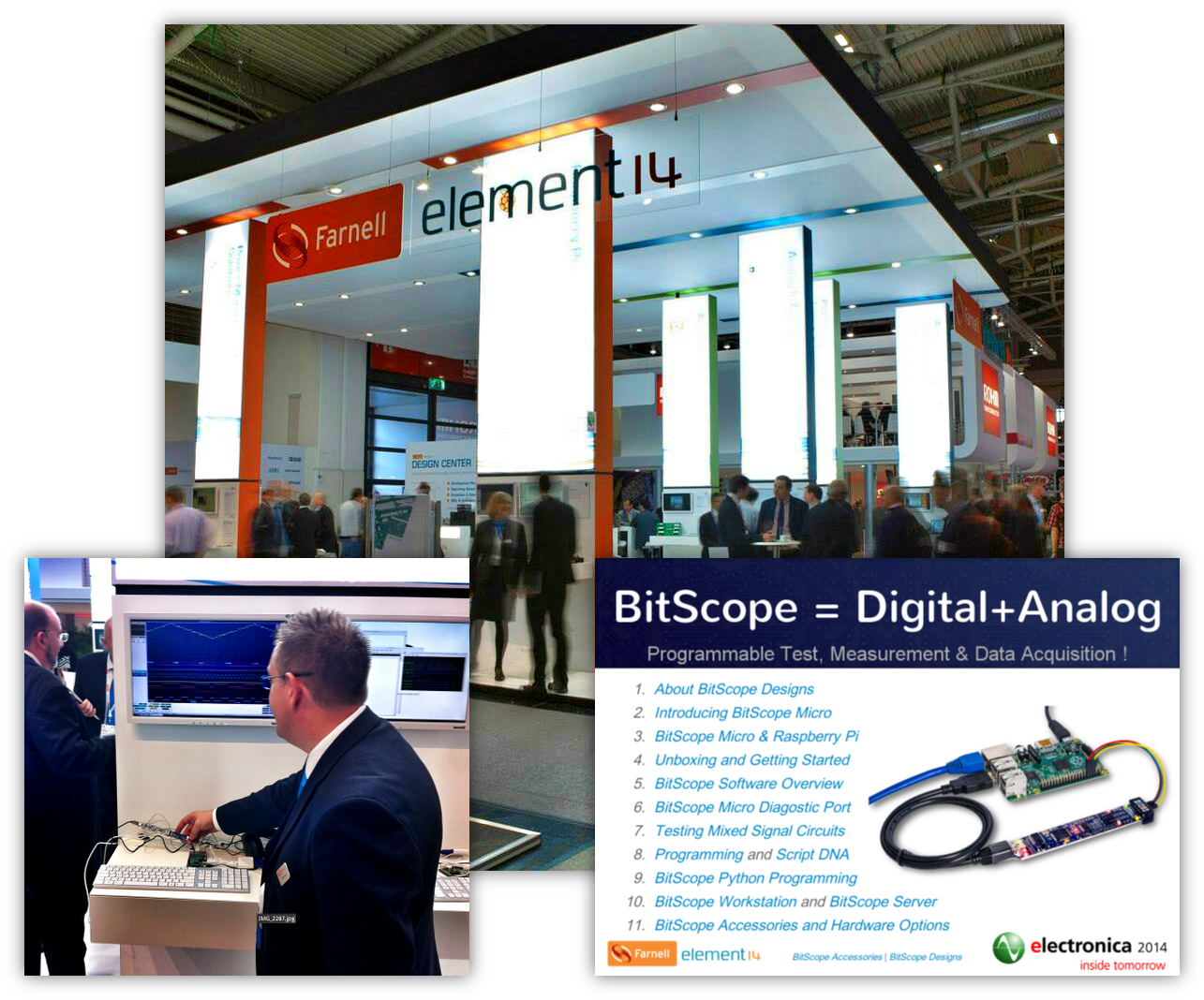 BitScope Micro at electronic 2014 with Farnell element14
